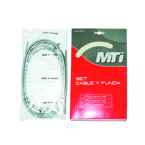 KIT FUNDA Y CABLE MTI DE FRENO MTB GRIS