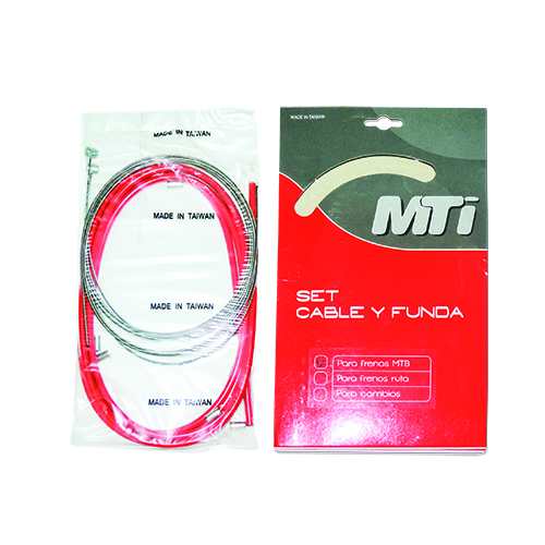 KIT FUNDA Y CABLE MTI DE FRENO MTB ROJO
