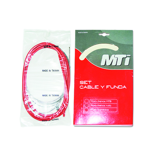 KIT FUNDA Y CABLE MTI DE FRENO RUTA ROJO