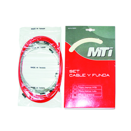 KIT FUNDA Y CABLE MTI DE CAMBIO ROJO