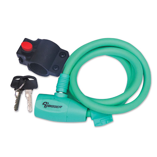 CABLE CANDADO 10X1200 C/LLAVE VERDE AGUA