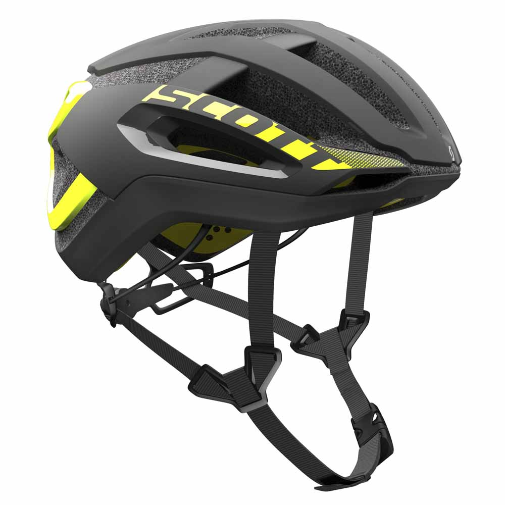 SCOTT CASCO CENTRIC PLUS NEGRO/AMARILLO RC